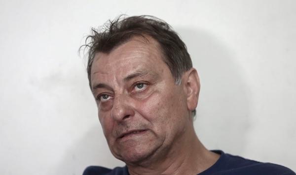 Cesare Battisti durante una entrevista que concedió a la AFP en octubre del 2017