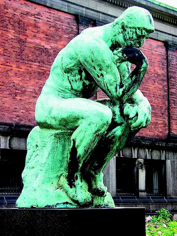 escultura de Auguste Rodin.El pensador (1902),