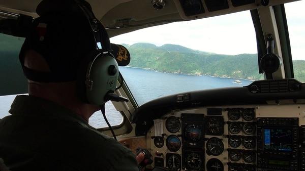 Recientemente los pilotos de Vigilancia Aérea fueron en la aeronave a la Isla del Coco. Este tipo de patrullajes se reforzará en adelante.