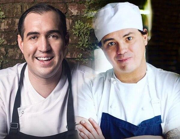 El chef costarricense Santiago Fernández será el anfitrión del colombiano Álvaro Clavijo (derecha). Entre los dos prepararán un menú de degustación de seis tiempos para el deleite de los comensales en el restaurante Silvestre. Foto: Cortesía de Silvestre.
