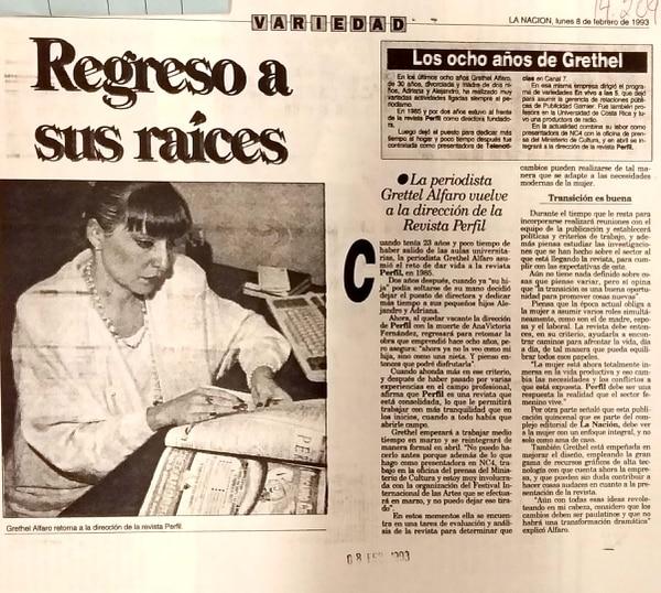 Grettel regresa a la dirección de 'Perfil' cuando su amiga y directora de la revista Ana Victoria Fernández, muere en un accidente automovilístico. Foto: Archivo