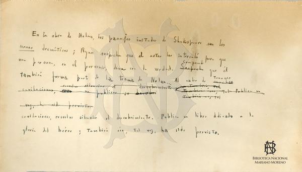 Captura de pantalla del sitio de la Biblioteca Nacional de Argentina.