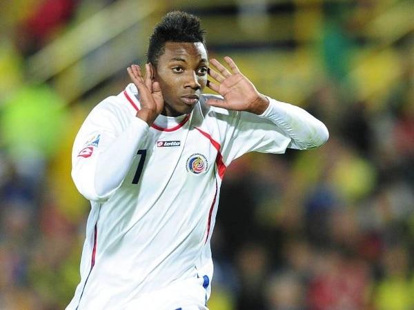 Escoe, con la camisa de la Sele en el Mundial de Colombia. | ARCHIVO