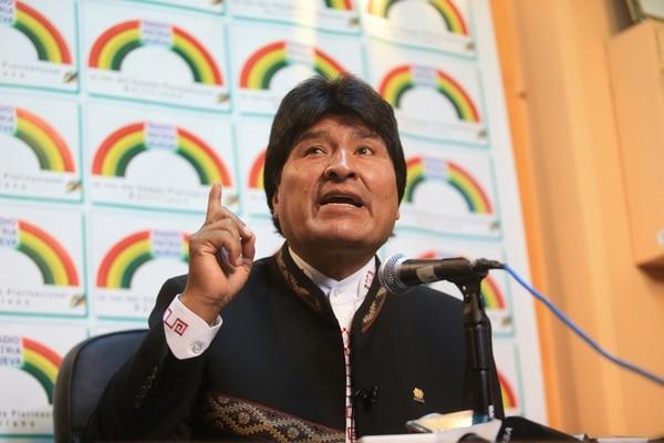 El presidente Evo Morales afirmó ayer en conferencia de prensa que el país mantiene una sola postura sobre la demanda contra Chile.   AFP