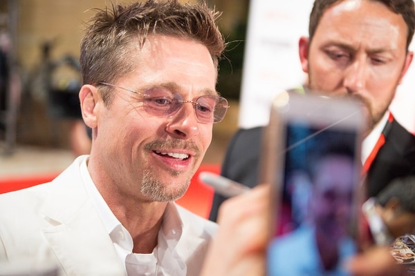 Brad Pitt durante el estreno de 'War Machine' en Tokyo, Japón, en mayo del 2017. Foto: Wikimedia Commons/Dick Thomas Johnson.