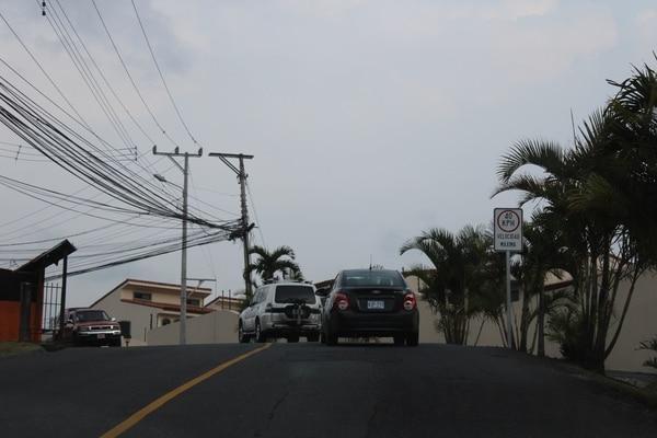 Primera cuesta que agita a cualquiera está unos 100 metros al oeste del Colegio de Farmacéuticos, en calle Chile Perro.