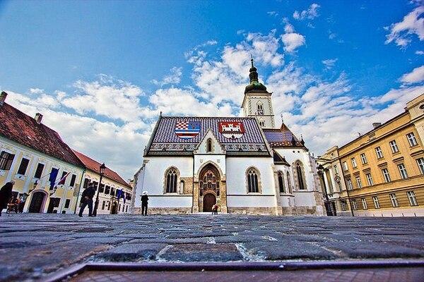 Esta es la Iglesia de San Marcos, en Zagreb, capital de Croacia. Fotografía: Esteban Antillón Polini.