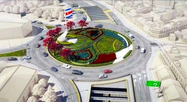 Obra contempla construcción de un viaducto a desnivel a seis carriles y de un paso elevado frente a la Facultad de Derecho de la Universidad de Costa Rica. Diseño: Presidencia
