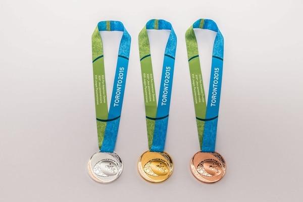 Así serán las medallas que se entregarán en los Juegos Panamericanos de Toronto.