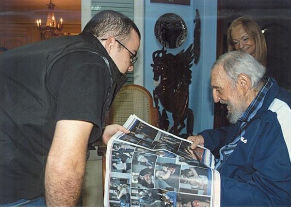 La página del sitio oficialista Cubadebate publicó este lunes un conjunto de imágenes de Castro durante un encuentro con un dirigente estudiantil, Randy Perdomo, el pasado 23 de enero.