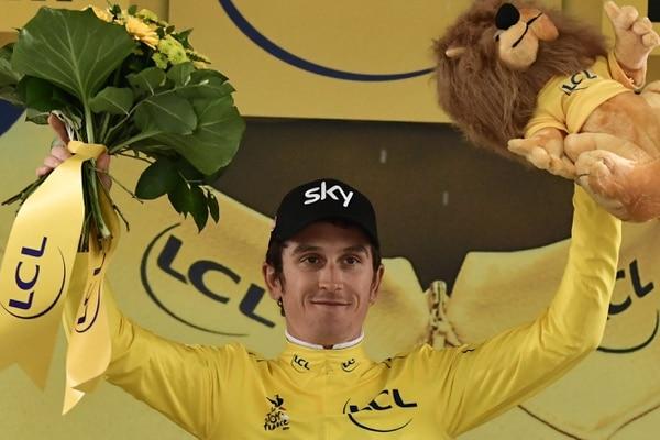 Geraint Thomas es el primer líder del Tour de Francia. Él ganó la contrarreloj con un tiempo de 16:04.
