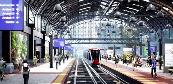 Tren eléctrico recorrería 84 kilómetros y contaría con 46 estaciones a lo largo de 15 cantones de la Gran Área Metropolitana. Foto: Cortesía