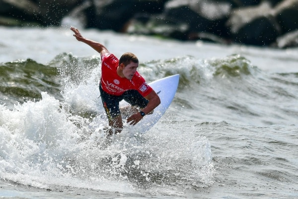Noe Mar McGonagle estuvo seleccionado en el último Panamericano de Lima 2019 y también estaba preconvocado para asistir al Mundial de El Salvador en mayo, que finalmente se suspendió. Fotografía: World Surf League.