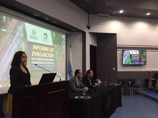 El informe se presentó en el auditorio del Lanamme, en la Ciudad de la Investigación de la Universidad de Costa Rica (UCR).