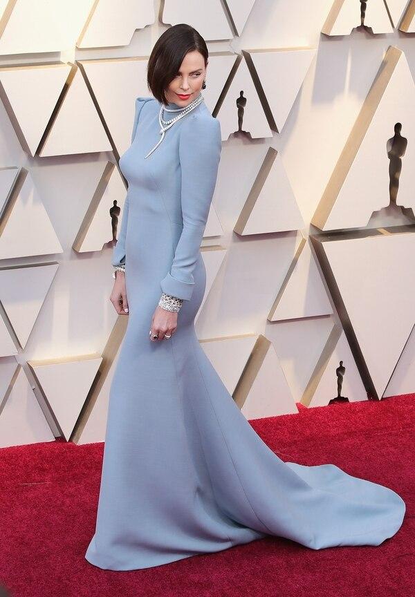 Charlize Theron durante la alfombra roja de la pasada edición de los premios Óscar. Fotografía: AFP/Neilson Barnard.