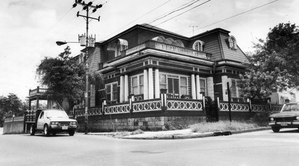 Hace unas décadas, la Casa Matute Gómez en San José. Foto: Archivo LN.