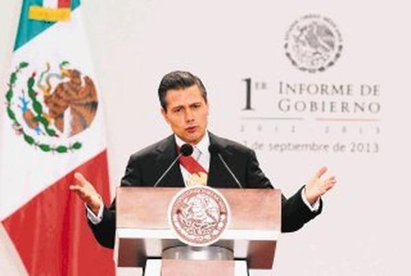 El presidente Enrique Peña Nieto durante la presentación del primer recuento de labores de su gobierno. | EFE