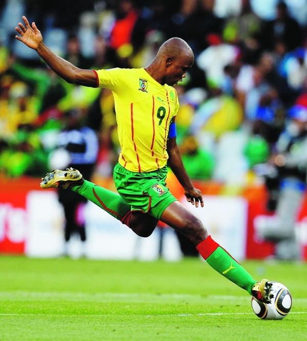 Samuel Eto'o jugó el Mundial de Sudáfrica con su selección.