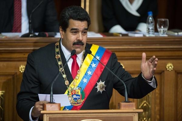 El presidente venezolano, Nicolás Maduro, pronuncia su mensaje de rendición de cuentas ante la Asamblea Nacional. | AFP