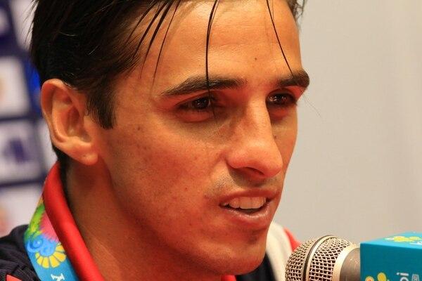 Bryan Ruiz durante la conferencia de prensa de este jueves en Brasil.