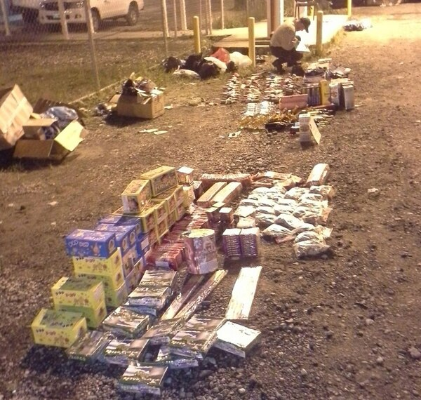 Parte del material explosivo que decomisó la Policía. | CORTESÍA MSP