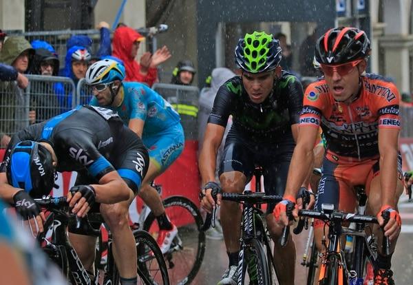 Andrey Amador al completar la duodécima etapa del Giro de Italia.