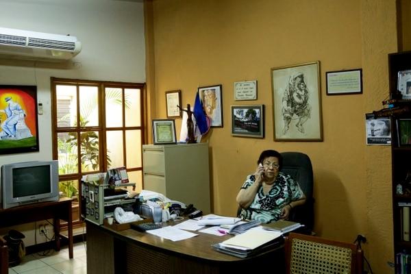 Vilma Núñez presidenta del Centro Nicaragüense de Derechos Humanos (Cenidh).