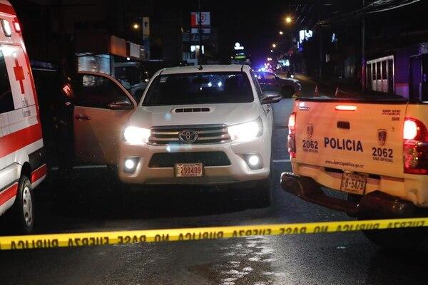 El ataque en que murió la hjoven ocurrió el viernes anterior en el cruce a Llorente en la carretera principal que comunica a Tibás.. Foto: José Cordero