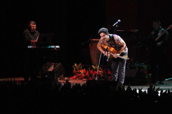 El Cantautor Argentino Lautaro Feldman interpretó su canción 'Amigo negro' en el Festival de Cantautores de Costa Rica 2017. Foto por Diana Méndez