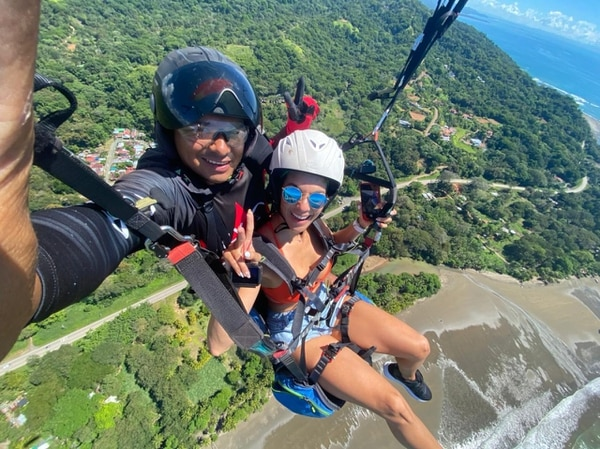 Marianela Valverde y su esposo, Juan David, compañero de aventuras. Foto: MV para LN