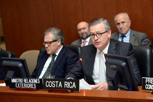 El canciller de la República, Manuel González, pidió al Consejo Permanente de la OEA buscar una solución conjunta a la crisis migratoria que enfrenta la región.