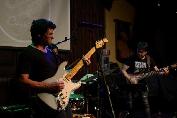 Concierto con Mark Lettieri guitarrista, compositor y productor con sede en Fort Worth, Texas, en el Jazz Café San Pedro, en marzo del 2018.Fotografía: Jose Díaz/Agencia Ojo por Ojo.