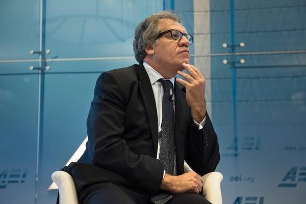 El secretario general de la OEA, Luis Almagro, se refirió a la situación en Venezuela durante una disertación, hace tres semanas, en el American Enterprise Institute , en Washington.
