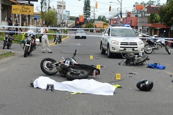 La colisión se produjo ayer, alrededor de las 7:20 a. m. | CARLOS GONZÁLEZ.