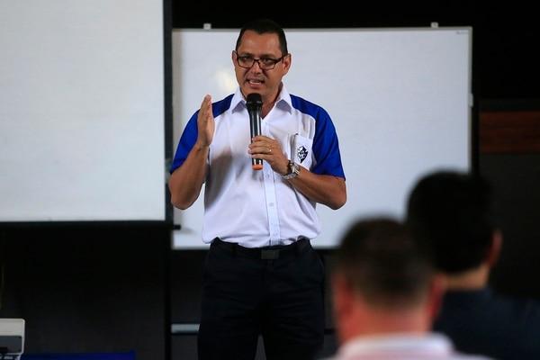 Luis Fernando Vargas, presidente de Cartaginés, espera que los accionistas aprueben la propuesta que presentarán el próximo 17 de setiembre del 2018 en la asamblea del club. Fotografía: Rafael Pacheco.