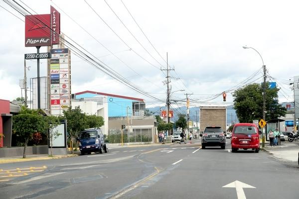 La calle principal que comunica San José con Tibás tendrá un carril exclusivo para buses.