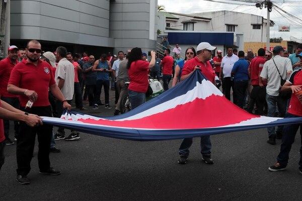 Los manifestantes se hicieron presentes desde las 7 a.m. Foto: Alonso Tenorio.