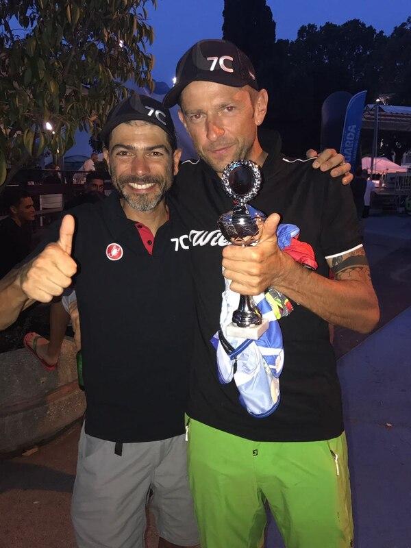 Dax Jaikel y Massimo Debertolis celebran su triunfo en el Transalp y estarán en el Trans Costa Rica.