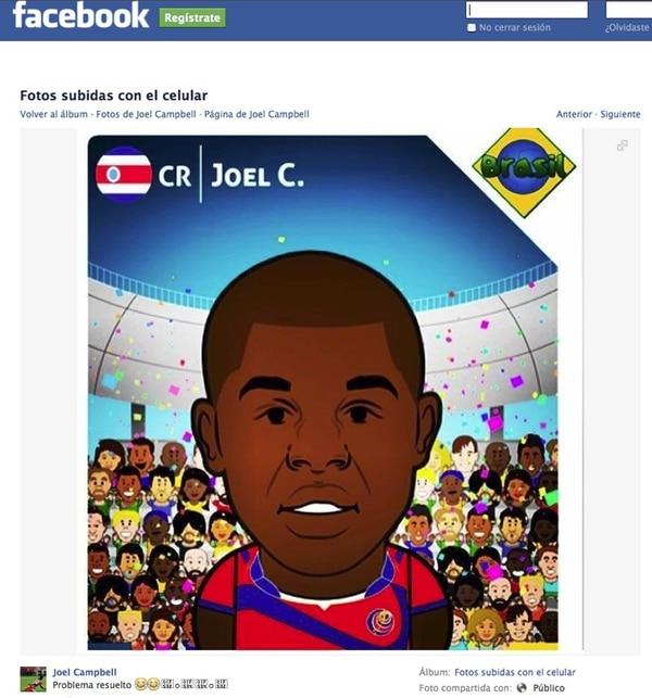 Esta fue la solución de Joel al no conseguir su postal. | FACEBOOK/JOEL CAMPBELL