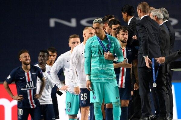 Keylor Navas en la última Champions League llegó a la final pero la perdió con el Bayern Múnich. Fotografía: AFP