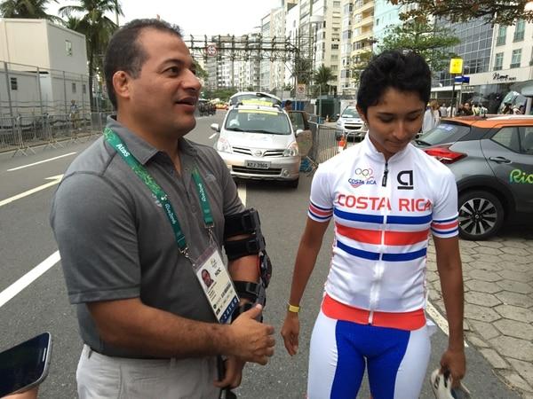 Henry Núñez felicitó a Milagro Mena por el gran esfuerzo que hizo en Río 2016.