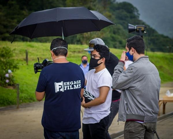 La filmación de 'En algún sitio' se ha realizado durante la pandemia, lo cual ha complicado el trabajo del equipo de producción. Foto: Jesús Morales
