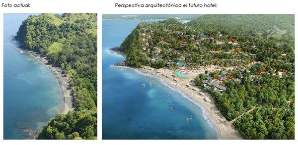 La imagen (der.) muestra el diseño arquitectónico del futuro complejo turístico.