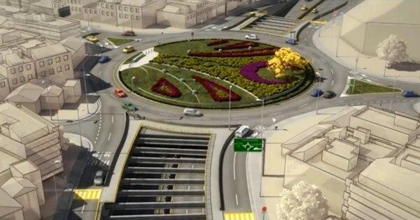El diseño original contempla una rotonda en la parte superior y un túnel a cuatro carriles.