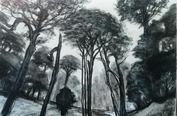 'El bosque y sus sonidos' (2017) de Miguel Hernández. Cortesía de la Embajada de Chile.