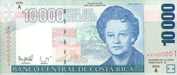 Image result for personajes grabados en los billetes, costa rica