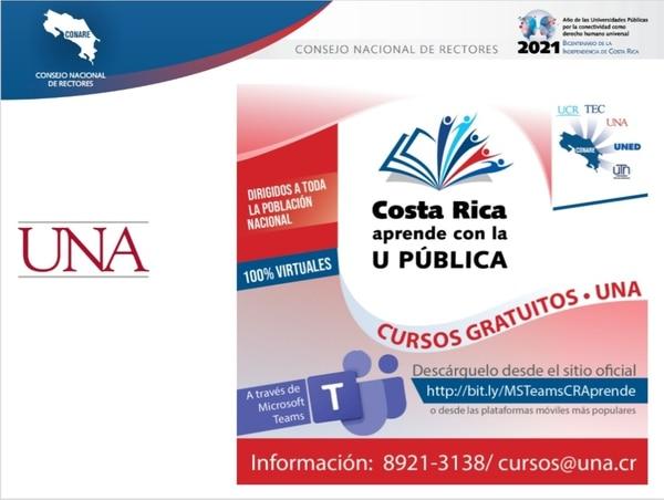 Información de cursos en la Universidad Nacional. Foto: Cortesía UNA