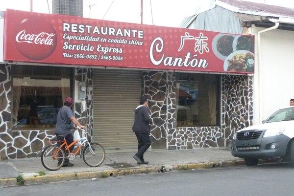 Este fue el restaurante que se vio afectado.