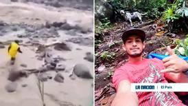 Rescatista de perro en Turrialba: 'Había que arriesgarse, es un ser vivo y ocupaba ayuda'
