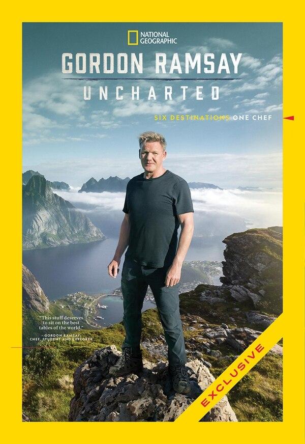 Póster oficial de la serie 'Gordon Ramsay: Uncharted'. Archivo